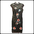 Chinese Embroidered Silk Qi Pao Dress