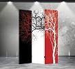 Double Sided Canvas Screen Room Divider - Tri-Color Tree