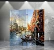 Double Sided Canvas Screen Room Divider - Venice