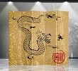 Double Sided Canvas Screen Room Divider - Dragon