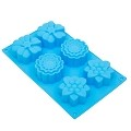 THY COLLECTIBLES Soft Silicone Ice Cube Tray Ice Maker Mold Cake Mold Chocolate Mold (Blue)