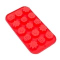 THY COLLECTIBLES Soft Silicone Ice Cube Tray Ice Maker Mold Candy Mold Chocolate Mold (Red)