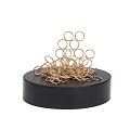 THY COLLECTIBLES Magnetic Sculpture Desk Toy For Intelligence Development Stress Relief Strong Magnet Base Solid Metal Pieces (Circle)