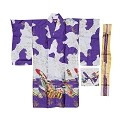 THY COLLECTIBLES Women's Silk Traditional Japanese Kimono Robe / Bathrobe / Party Robe (Purple)