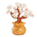 Stunning Feng Shui Artificial White Pearl Bonsai Money Tree