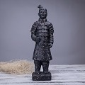 Antique Reproduction Qin Dynasty Terra cotta Warrior Collectible Statuette Large 16
