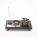 Asian Japanese Feng Shui Sand Zen Garden Elephant Incense & Candle HY159