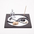 Asian Japanese Feng Shui Sand Zen Garden YinYang & Incense HY172