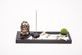 Asian Japanese Feng Shui Sand Zen Garden Buddha Incense & Candle HY198