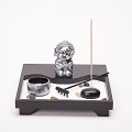 Asian Japanese Feng Shui Sand Zen Garden Buddha Incense & Candle HY201B
