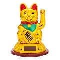 Solar Powered Bobblehead Toy Figure, Lucky Cat 069