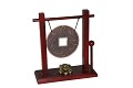 Zen Art Chinese Old Coin Style Bronze Feng Shui Desktop Gong With Rammer