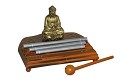 Meditation Energy Chime Three Tone with Mallet Exquisite Musical Toy Percussion Instrument