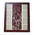 Asian Oriental Wooden Engraved Wall Art Plaque